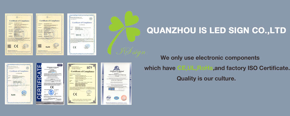 IS LED Sign Company Certificate