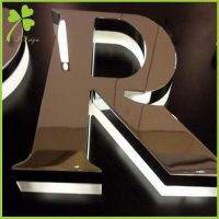 Backlit Stainless Steel Letters
