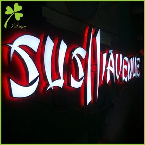 Front And Back Lit Channel Letters