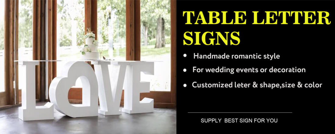 TABLE LETTER SIGNS