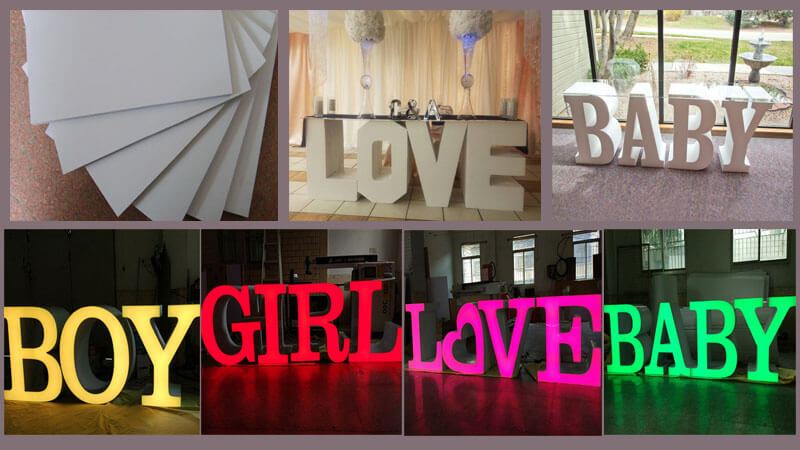 Giant Free Standing Letters