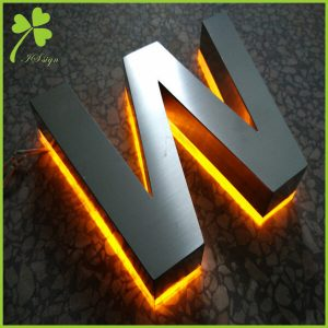 Backlit Metal Letters