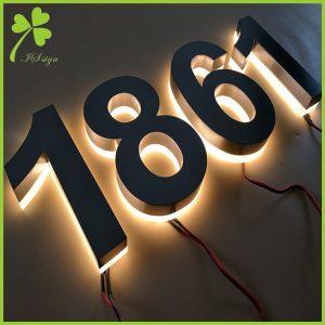 Illuminated Front Door Numbers