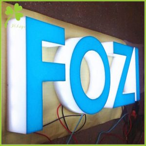 Acrylic Sign With Vinyl Lettering