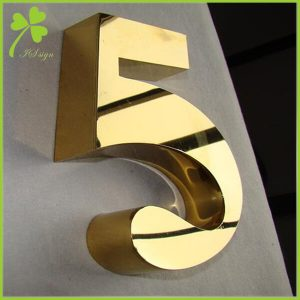 Metal Numbers and Letters