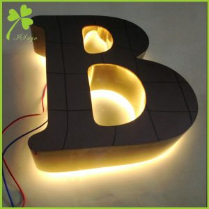 3D LED Backlit Signs Custom Illuminated Letters Factory