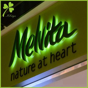 Metal Logo and Lettering Storefront Sign