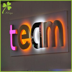 Custom LED Backlit Signs 3D Metal Sign Manufacturer